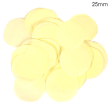 Ivory Tissue Paper Confetti | 25mm Round | 100g Bag